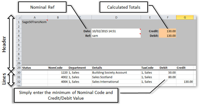 Simple Sage 200 Stock Adjustment in Excel