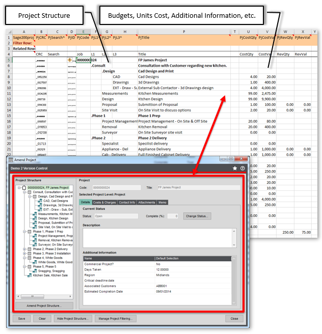 Extract/Import Sage 200 Project Structure