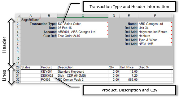 Sage 50 transaction data sales for Sage line 50 invoice template
